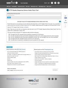 HTTP Header Response Status Codes Check Tool
